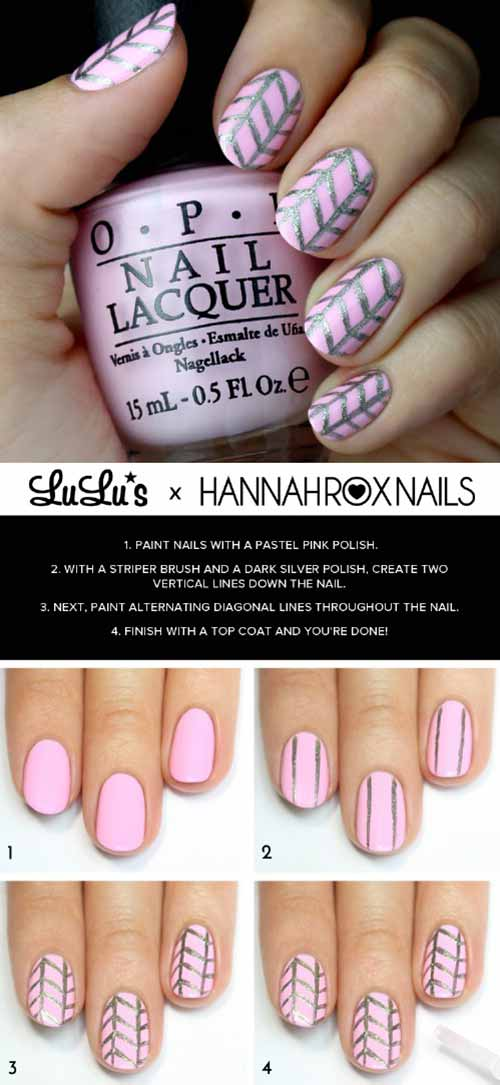 30 simple nail art designs for beginners 2017 k4 fashion pastel pink nail art design prinsesfo Image collections