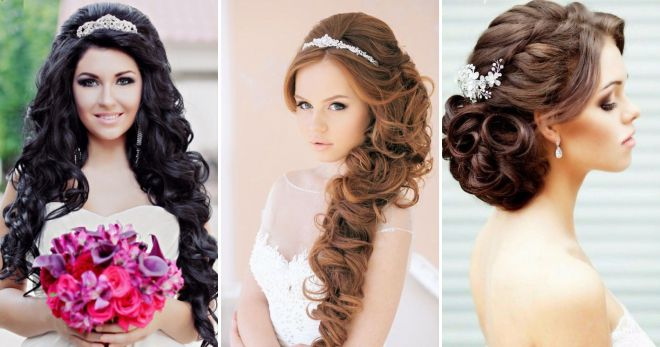 Wedding hairstyles for long hair - Fashionable styling for the bride ...