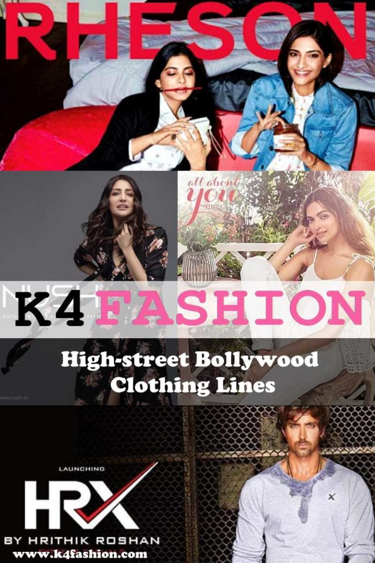4 High-street Bollywood Clothing Lines you must know about