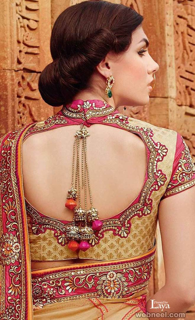 4713364bcbcf1 Stylish Saree Blouse designs prominent the looks of the wearer. For a  classy and sophisticated look