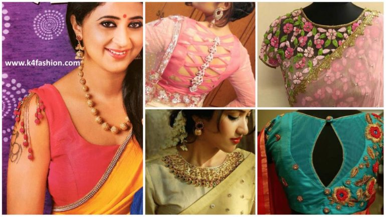 89a4cc1447953 Stylish Saree Blouse designs prominent the looks of the wearer. For a  classy and sophisticated look, try these Stylish blouse designs for wedding  season.