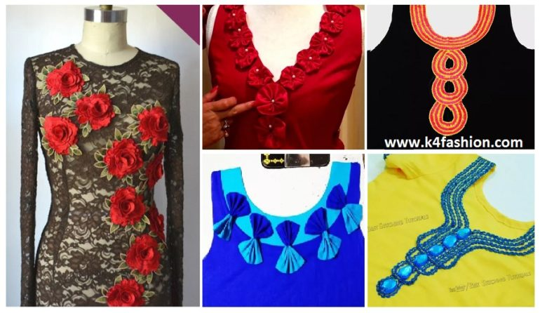 How to Decorate Kurti Front Neck