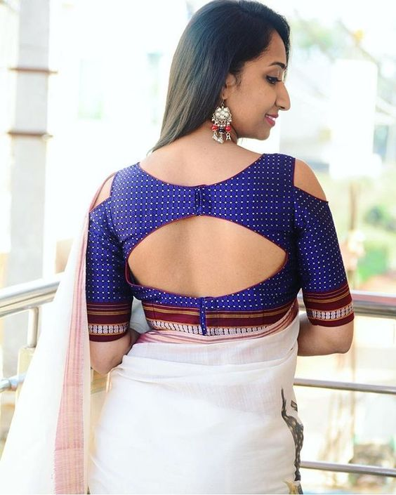 simple and stylish blouse back neck designs - k4 fashion