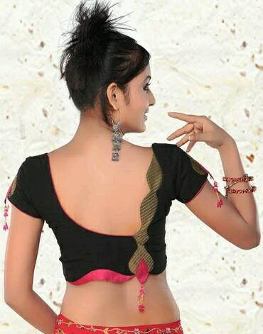 Deep U blouse design
