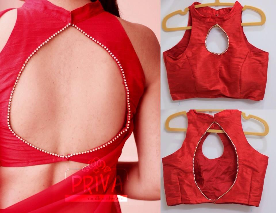 Stand Neck Blouse Designs : Sleeveless blouse designs best design