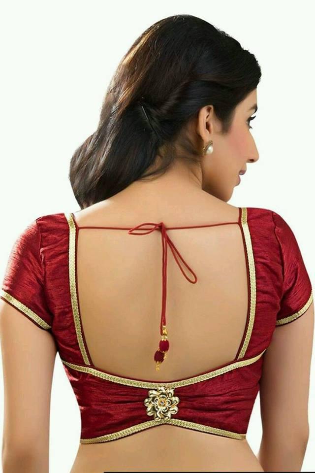 Square cutout blouse design