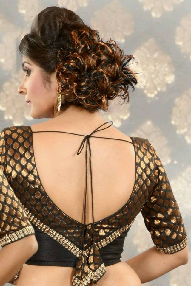 Almost backless blouse design
