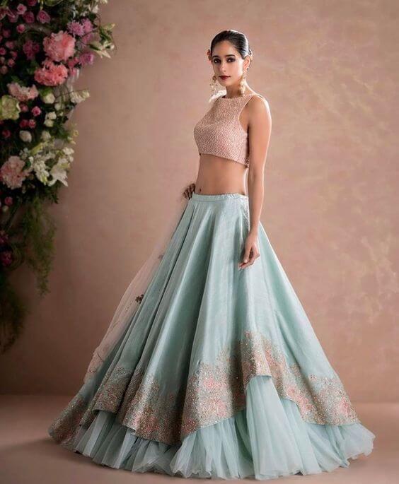 LAYERED STYLE Stylish Lehenga Choli For Wedding 2020