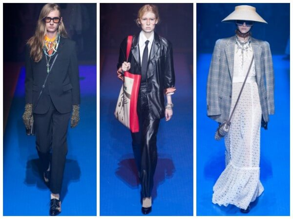 Gucci Fashion House erases the boundaries between men's and women's fashion.