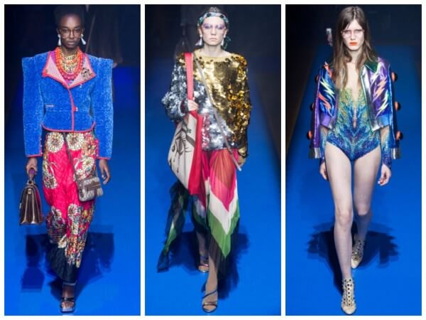 Looking at the Gucci collections in the second minute, there is a feeling of light diversity in the eyes.
