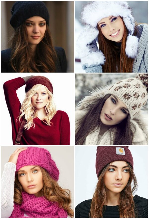 Pretty Hairstyles for Winter Hat & Beanie