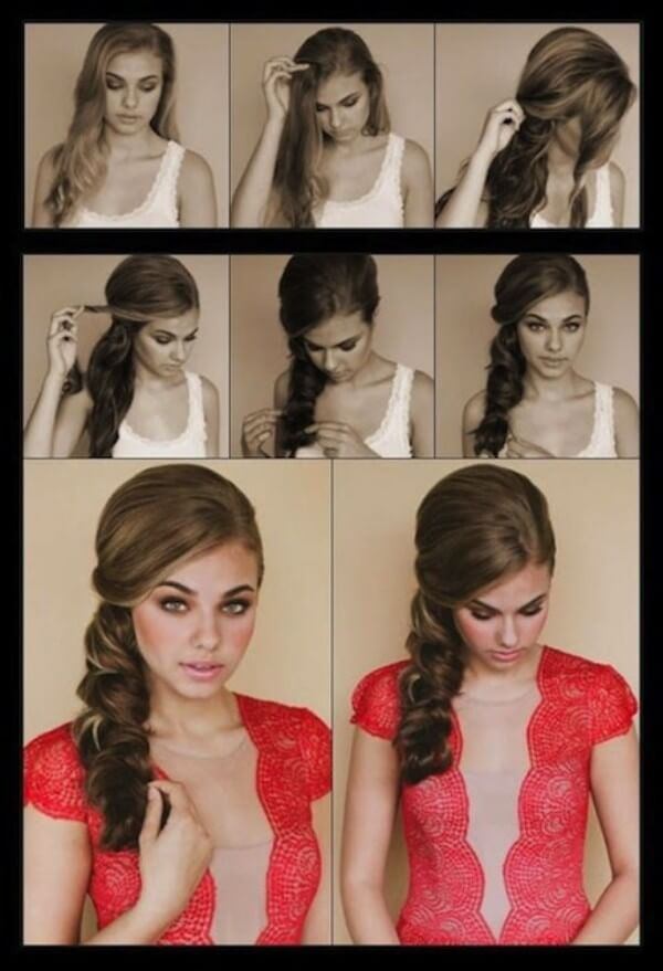 Side Braid Hairstyle Step by Step Tutorial Turn into a real aristocrat with a few simple actions.