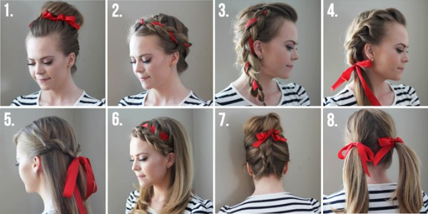 Easy To Do DIY Ribbon Hairstyles for Cute Look