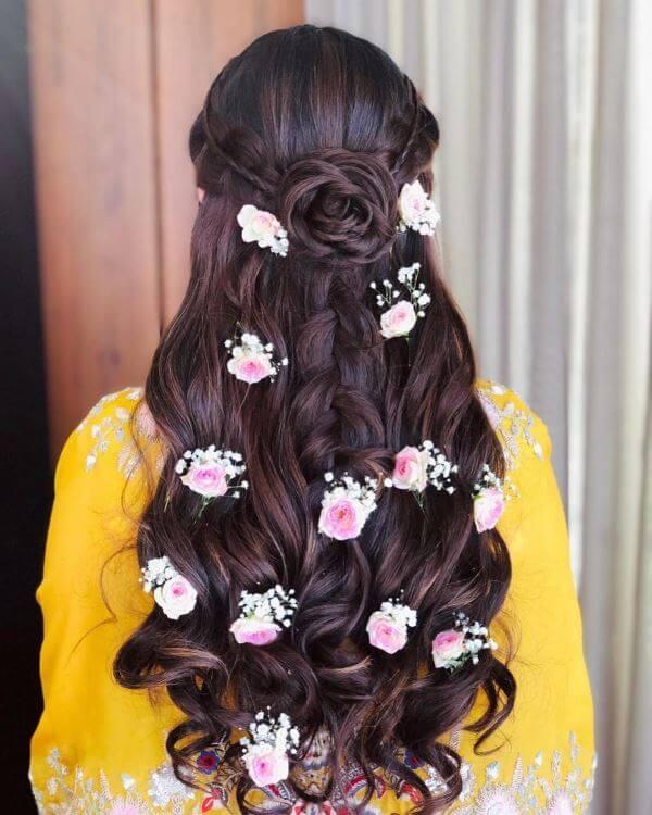 Braid with flower bun