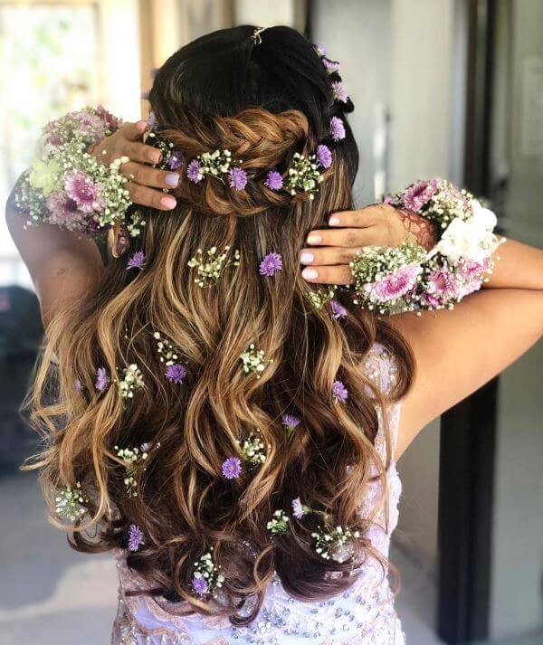 Braided crown with loose waves