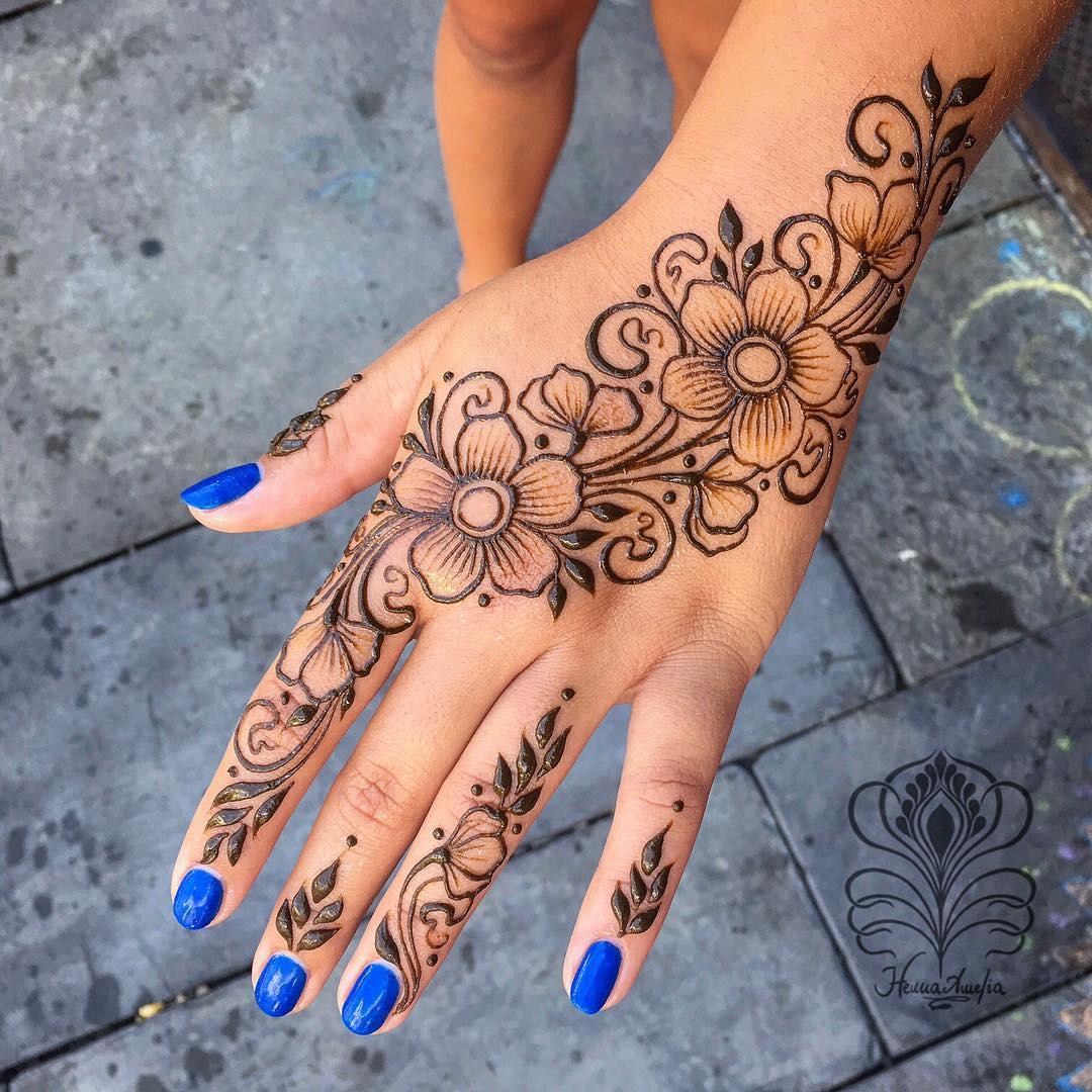 Arabic Mehndi Design for hand